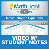 Introduction to Equations Instructional Video with Student