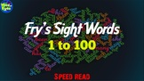 1 to 100 Fry's Sight Words - Speed Read Video