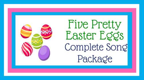 "Counting Backward Singing Game | ""Five Pretty Easter Eggs"" 