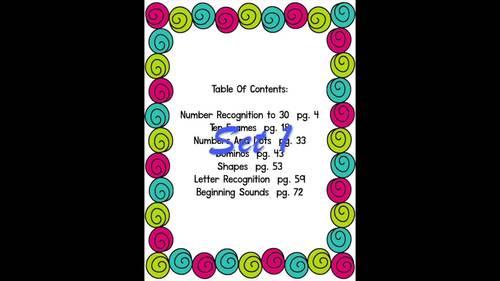 Pocket Chart Concentration Games BUNDLE!