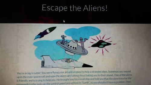 Escape the Aliens (Inequalities Digital Breakout)