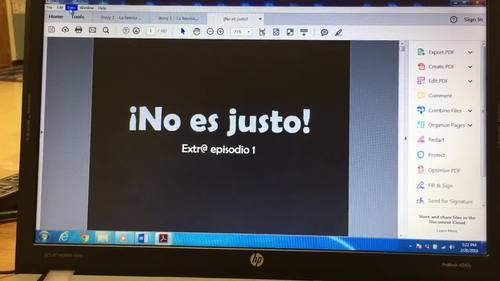 ¡No es justo! Extr@ en español episode 1 (Spanish Extra en español)