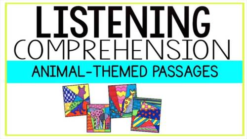 NONFICTION Art-infused Listening Comprehension Passages [Volume 1: ANIMALS]