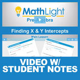 Finding x and y Intercepts Video Lesson with Student Notes