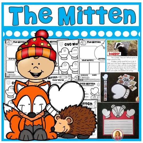 The Mitten by Jan Brett Story Activities (16 Literacy and Math Activities)