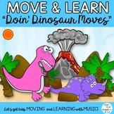 Free Dinosaur Movement Activity Song Sing a Long Video
