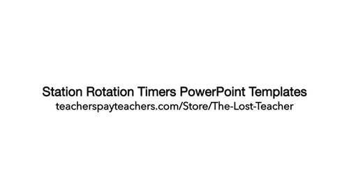Station Rotation Timers - Editable PowerPoint Templates