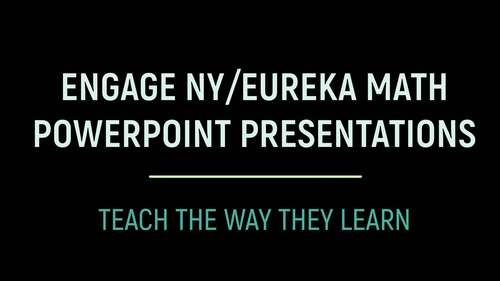 Engage NY Math /Eureka PowerPoint Presentations 1st Grade Module 6 ALL LESSONS!