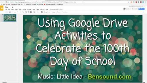 100th Day Google Activities, Now and Then, Identify Numbers, Digital