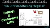 STEM Challenges - The Differentiating Magic of Criteria &