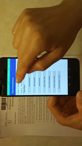 Barcode scanning mark entry App (Gradebook with Barcode/QRcode Scanner)