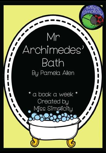 Mr Archimedes' Bath ~ A week of reading activities