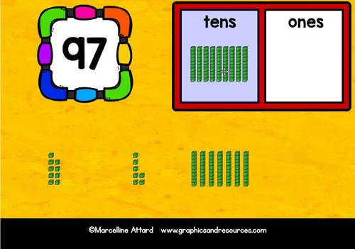 BOOM CARDS 1ST GRADE PLACE VALUE GAME (BASE TEN BLOCKS ACTIVITY) TENS AND ONES