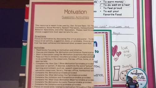 MOTIVATION Activities and Lessons - Character Education