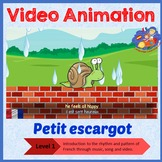 French Immersion - song in video animation - Petit Escargo
