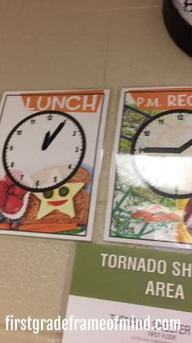 "Clock Time Posters ""When Do We?"" Lunch Recess Dismissal"