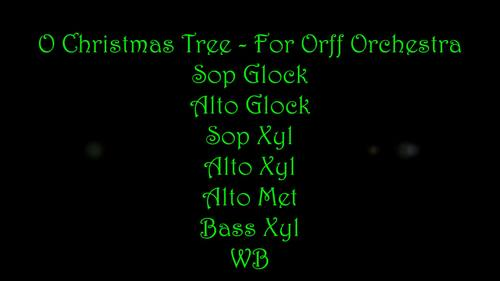 O Christmas Tree - For Orff Orchestra
