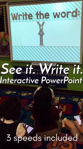 Word Work, Sight Words, Vowels, Math: See it. Write it. - The Growing Bundle
