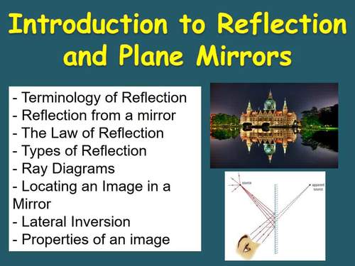 Ray Diagrams, Reflection and Plane Mirrors - Optics PowerPoint Lesson & Notes