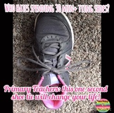 One Second Shoe Tie video and EDITABLE Shoe Tying Champion