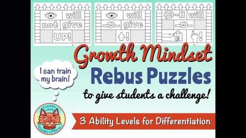 Growth Mindset Rebus Puzzles