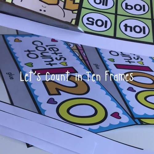 Counting in Ten Frames Poster {100 to 200 options }