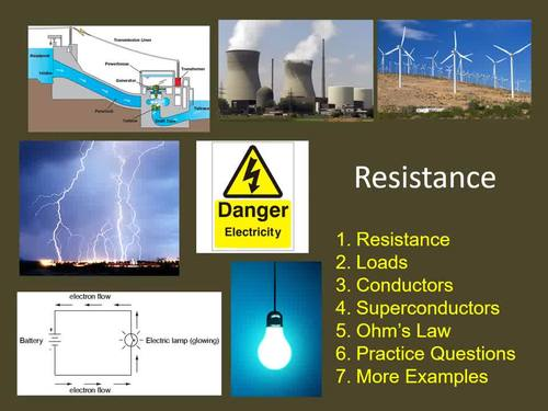 Electrical Resistance - Electricity PowerPoint Lesson and Student Notes