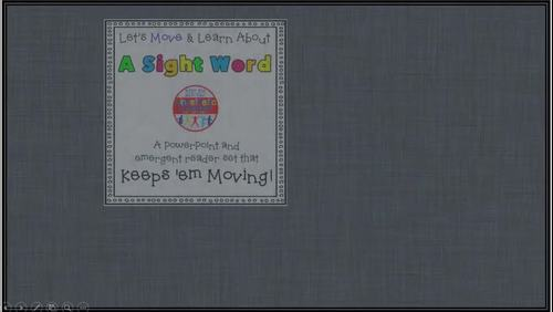 Sight Word Activity - PowerPoint and Emergent Reader for the sight word NOW