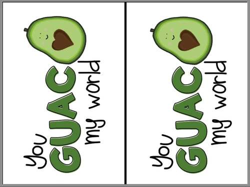 You GUAC my world gift tag (note card)