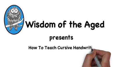 How To Teach Cursive Handwriting Video and Worksheet Freebie