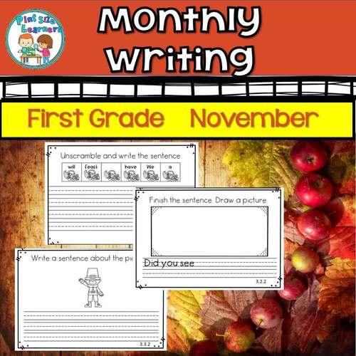 First Grade Daily Writing November