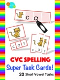 CVC Spelling Super Task Cards! - How-To Video