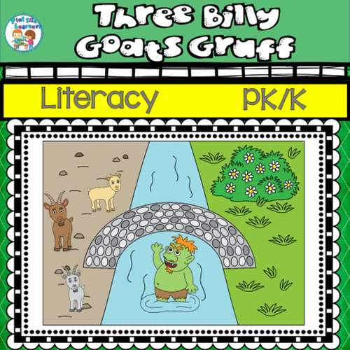 The Three Billy Goats Gruff Center Activities and Worksheets K-1