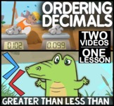 Comparing Decimals on a Number Line: Less Than, Greater Th