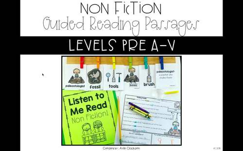 Guided Reading Passages Bundle: Level A-M (Non Fiction)
