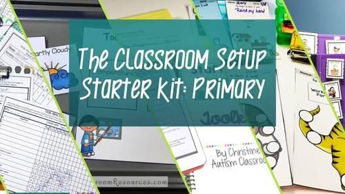 Preschool-Elementary Special Education-Autism Classroom Starter Bundle