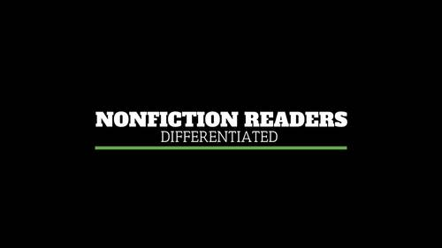 Differentiated Leveled Nonfiction Readers (Levels A-D) Set 2 Science Topics