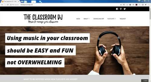 The Classroom DJ App-Manage Your Classroom With Transition Music (5 Buttons)