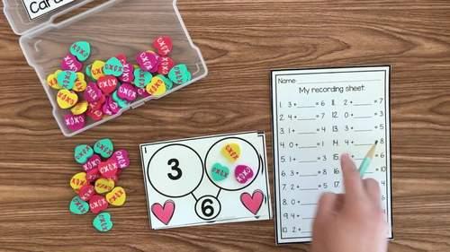 Heart Number Bond Task Cards 1-10 Center