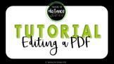 Editing a PDF Tutorial