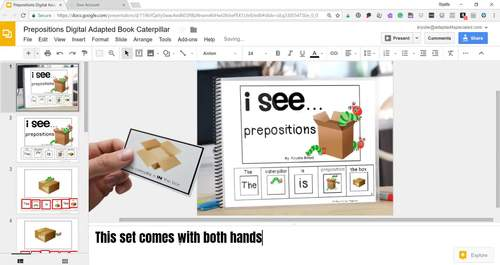 Prepositions: Adapted Book + Task Cards