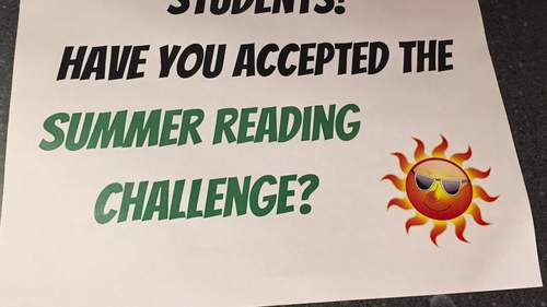 Summer Reading Challenge Bookmark