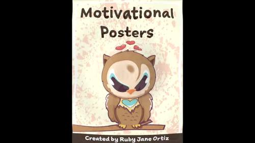 Owl Themed Motivational Posters for Back to School Bulletin Boards