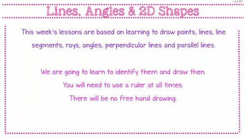 Geometry – Parallel and Perpendicular Lines & Symmetry - PowerPoint (4.G.1,2&3)