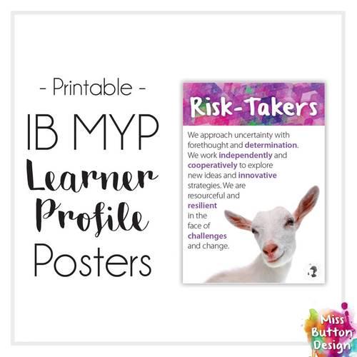 IB MYP Learner Profile Posters