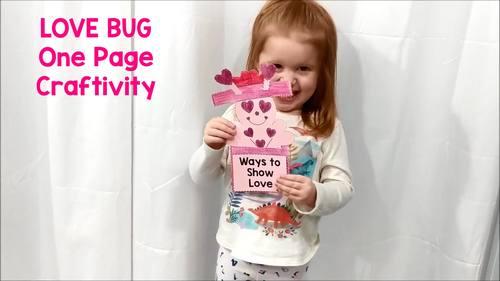 Valentine's Love Bug: One Page Craftivity