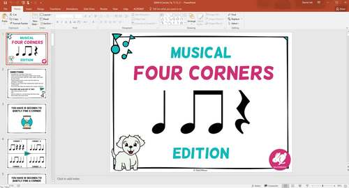 Musical Four Corners, STICK NOTATION Rhythm Bundle