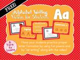 Alphabet Writing Video - Aa - Free!!