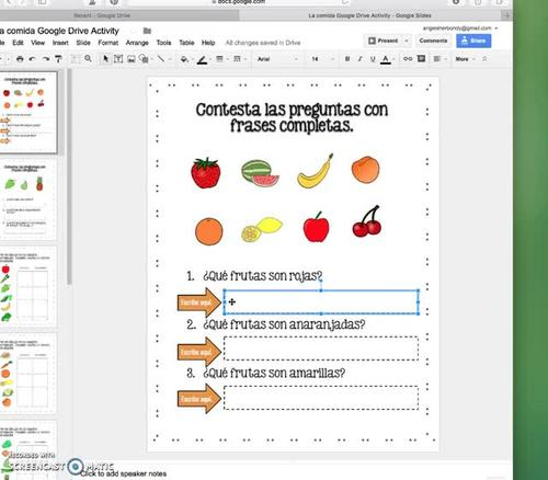 Spanish Google Drive Activities Bundle