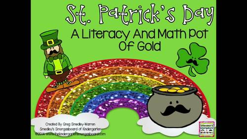 St. Patrick's Day BLACKLINE Math And Literacy Centers!